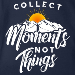Collect moments not things - Reisen Abenteuer - Baby Bio-Kurzarm-Body