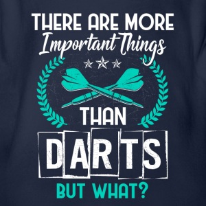 darts - more important things than darts - Baby Bio-Kurzarm-Body