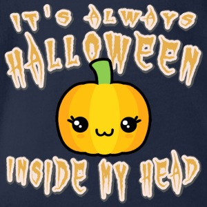 Halloween Inside My Head - Ekologisk kortärmad babybody