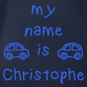 CHRISTOPHE MY NAME IS - Organic Short-sleeved Baby Bodysuit