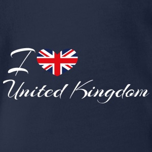 Love United Kingdom - Organic Short-sleeved Baby Bodysuit
