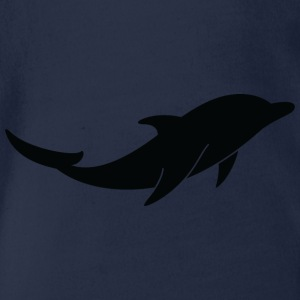 A Floating Dolphin - Organic Short-sleeved Baby Bodysuit
