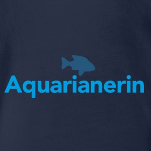 Aquarianerin T-Shirt - Baby Bio-Kurzarm-Body