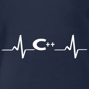 heartbeat heartbeat C ++ programming language heart - Organic Short-sleeved Baby Bodysuit