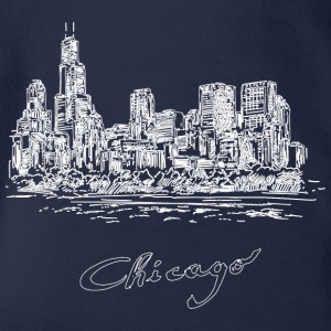 Chicago City - United States - Ekologisk kortärmad babybody