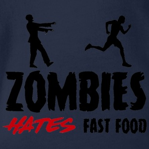 Zombie: Zombies Hate Fast Food - Vauvan lyhythihainen luomu-body