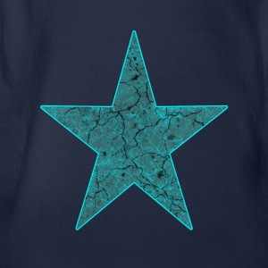 Star blue - Organic Short-sleeved Baby Bodysuit