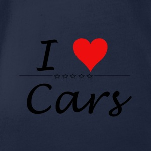 I Love Cars - Organic Short-sleeved Baby Bodysuit