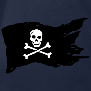 Pirate flag (colors can be customized!) - Organic Short-sleeved Baby Bodysuit