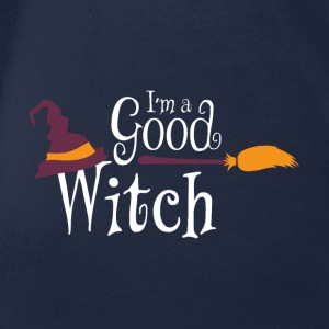 Halloween I'm a Good Witch - Organic Short-sleeved Baby Bodysuit