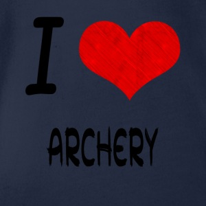 I Love Hobby Present bday ARCHERY - Organic Short-sleeved Baby Bodysuit