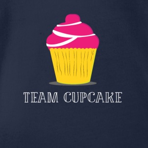 CUPCAKE sweet team new new christmas gift haha - Organic Short-sleeved Baby Bodysuit