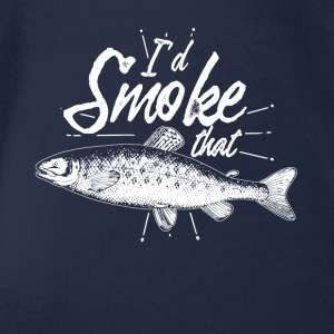 Gift for anglers the smoking - Organic Short-sleeved Baby Bodysuit