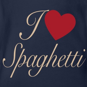 I love spaghetti - Organic Short-sleeved Baby Bodysuit