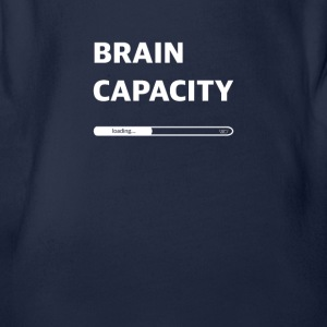 Brain capacity loading - Organic Short-sleeved Baby Bodysuit