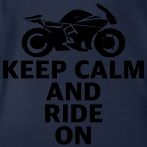 Motorrad Sportsbike keep calm and ride Superbike - Baby Bio-Kurzarm-Body