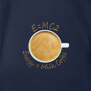 Energy = Milk Coffee² - Organic Short-sleeved Baby Bodysuit