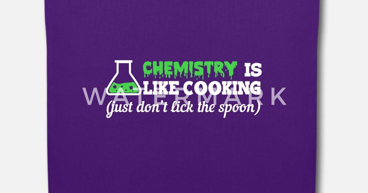 Chemie Ist Wie Kochen Lustige Spruche Stoffbeutel Spreadshirt