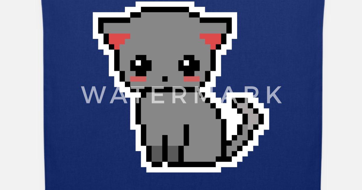 Chaton Doux Chat Pixel Pixelart Sac En Tissu Spreadshirt