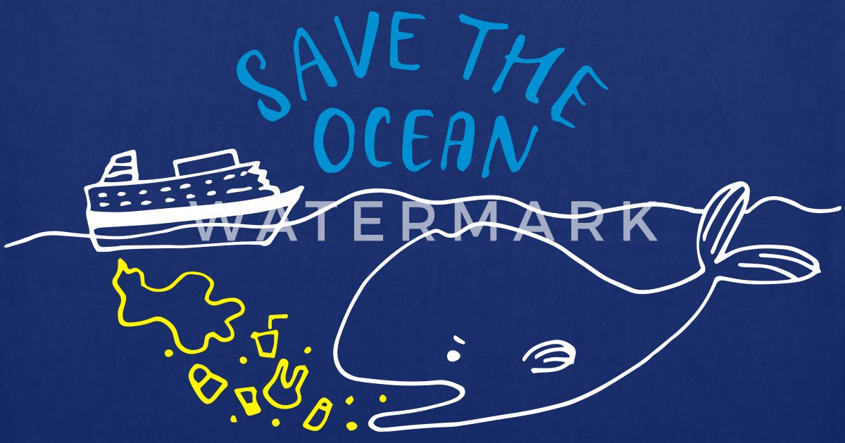 Save The Ocean Tote Bag Spreadshirt