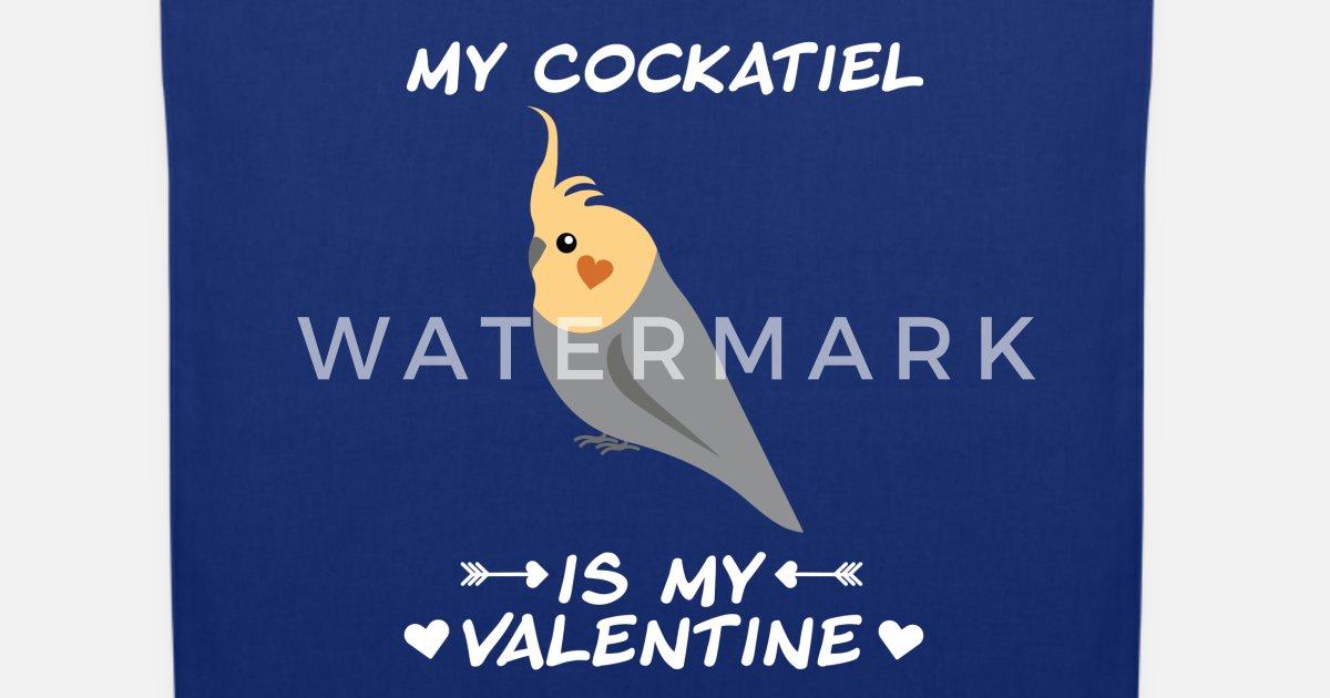 Nymphensittich Vogel Valentinstag Single Lustig Stoffbeutel