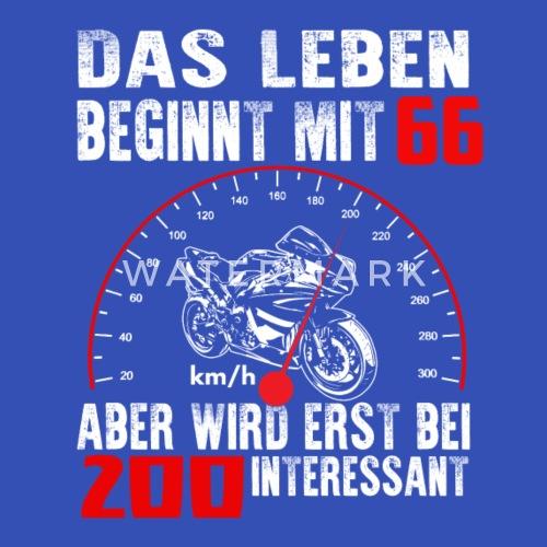 Geburtstag Superbike 66 Jahre Shirt Tacho Stoffbeutel
