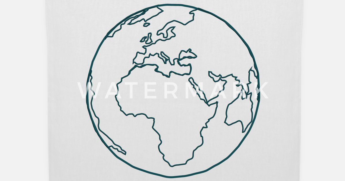 pianeta terra disegno disegno blu simbolo traccia g Borsa ...