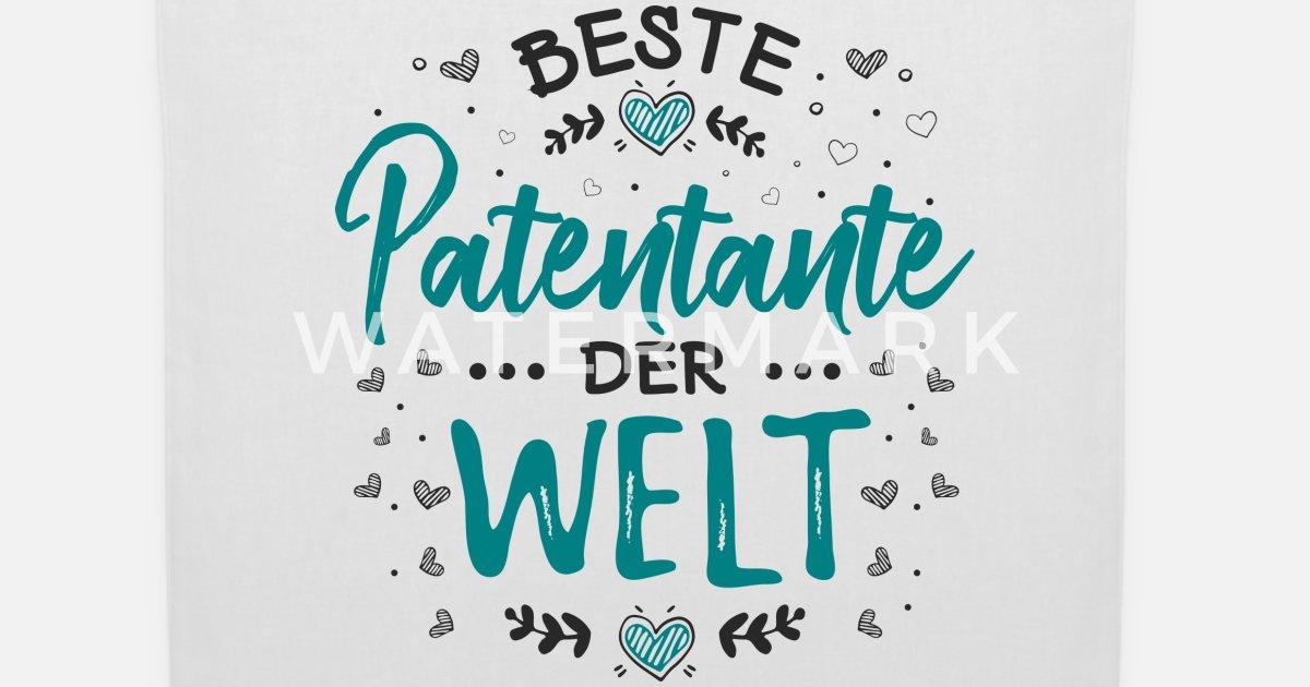 Süß Cool Witzig Patentante Patin Sprüche Geschenk Stoffbeutel Spreadshirt