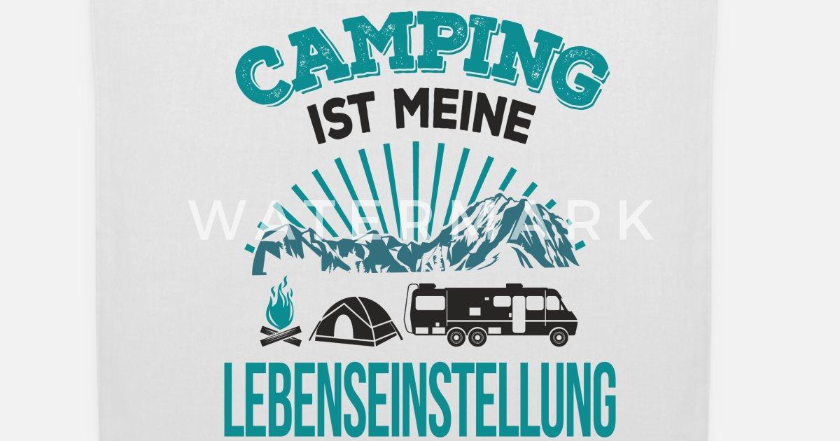 Camping Camper Sprüche Witze Leben Lustig Geschenk Stoffbeutel Spreadshirt