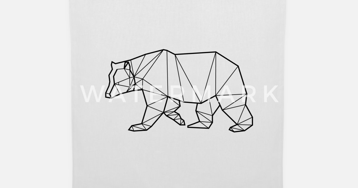 fff179513e Black Bear - Animal Prism Tote Bag