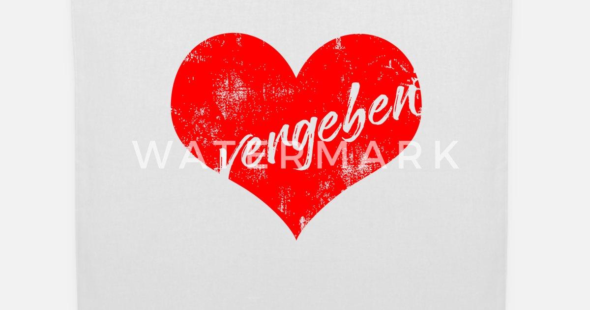 Herz Valentinstag Paar Verliebt Vergeben Geschenk Stoffbeutel