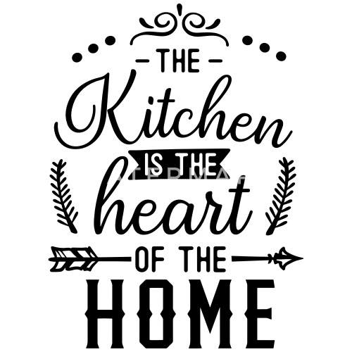 The Kitchen Is The Heart Of The Home Stoffbeutel Spreadshirt