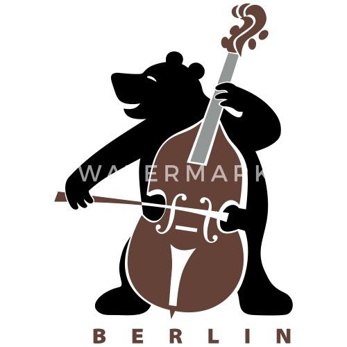 Berliner Bär Stoffbeutel Spreadshirt