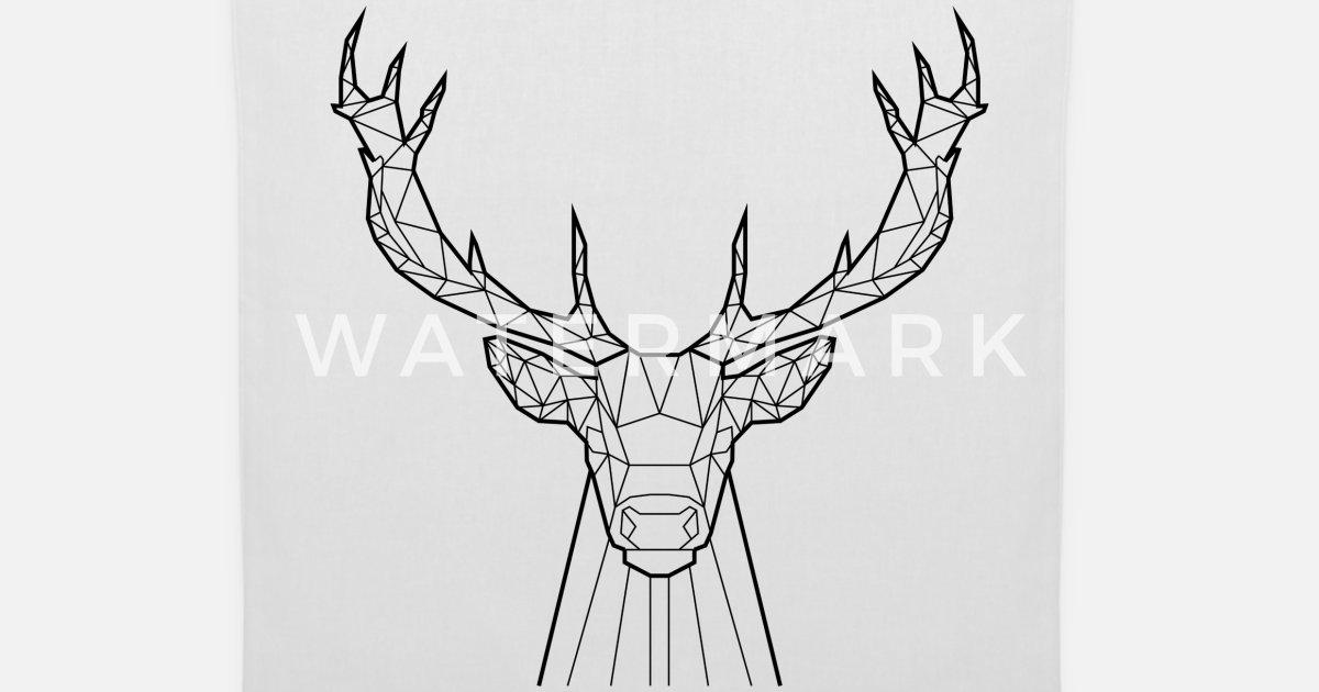 a6b390a322 Black Deer - Animal Prism Tote Bag