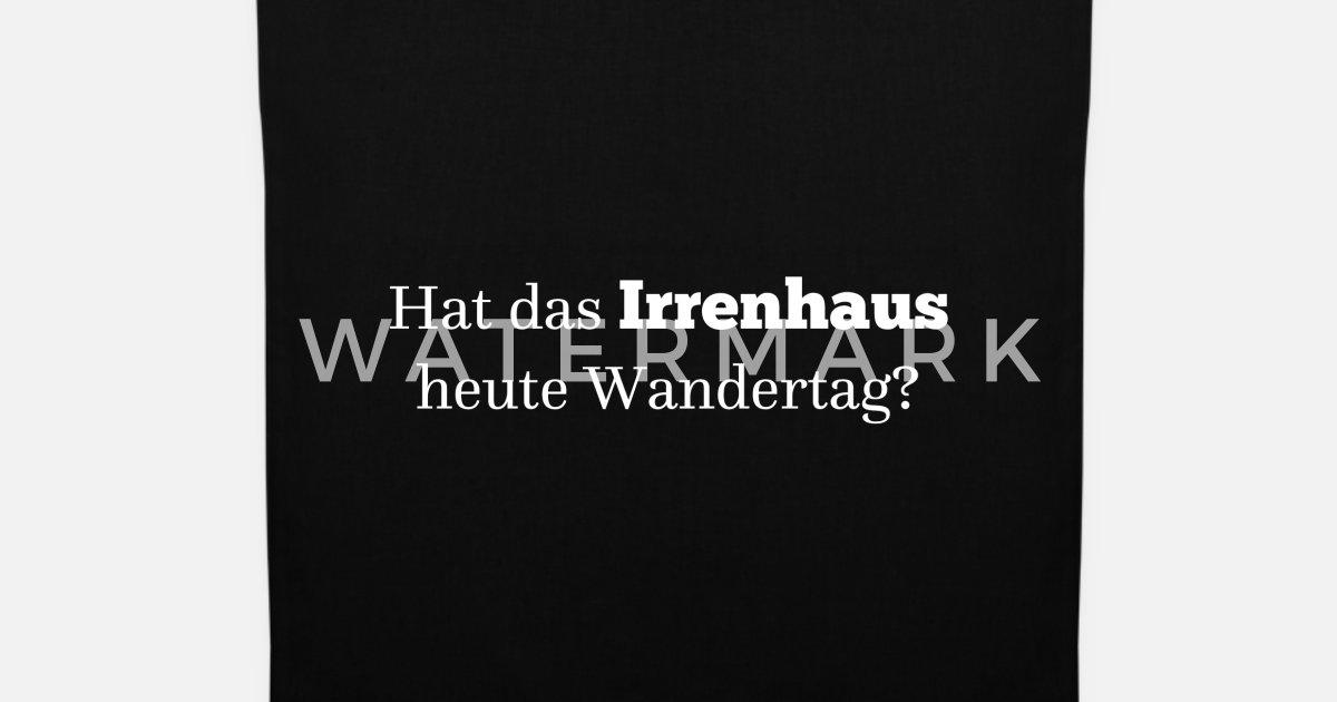 Provokanter Lustiger Spruch Geschenkidee Irrenhaus Stoffbeutel