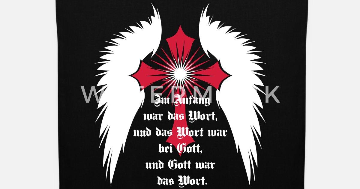 10 Gothic Kreuz Engelsflügel Bibel Zitat Stoffbeutel Spreadshirt