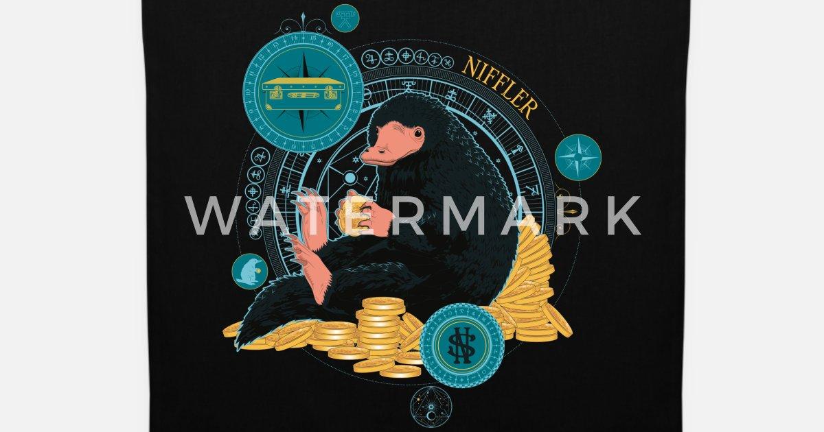 Spreadshirt Phantastische Tierwesen Niffler mit Münzen