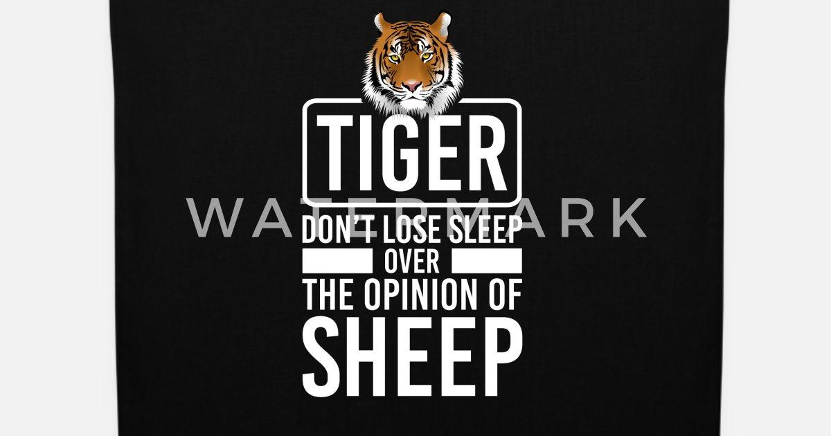 Tiger Gefährlich Tigerfell Ti Sprüche Lustig Cool Stoffbeutel Spreadshirt