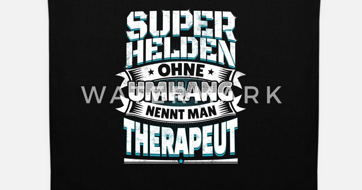 Superheld Lustiger Spruch Held Therapeut Geschenk Stoffbeutel Spreadshirt