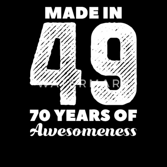 70 Jahre Made In 49 70 Geburtstag Oma Geschenk Stoffbeutel