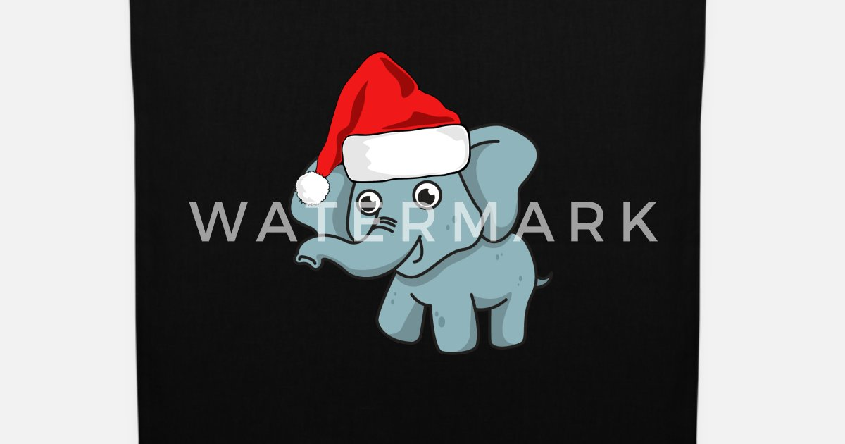 Elefante navidad gorro regalo comic lindo Bolsa de tela  ae362ff6c57