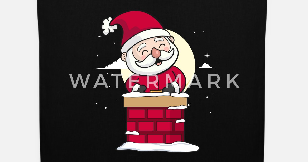 Weihnachtsmann Weihnachten Santa Kamin Geschenk von   Spreadshirt