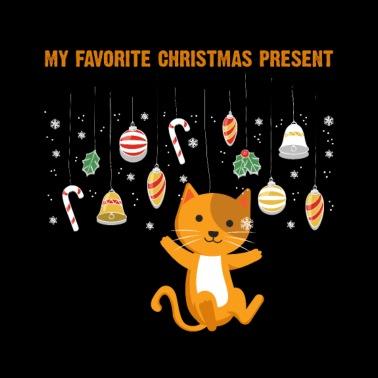 Weihnachtsdeko Xmas.Meowy Christmas Katze Weihnachtsbaum Dekoration Sporttasche Schwarz