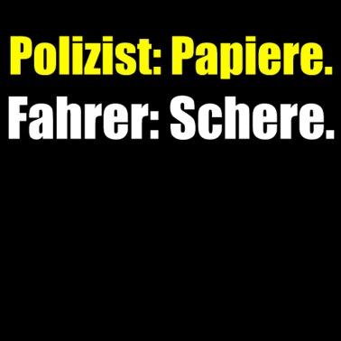 Polizist Polizei Schere Papier Witzige Spruche Turnbeutel