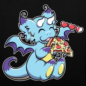 Blue Gaming Dragon - Pizza is Life
