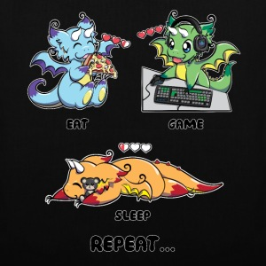 Eat Game Sleep Repeat - Gaming Dragon Geek Life