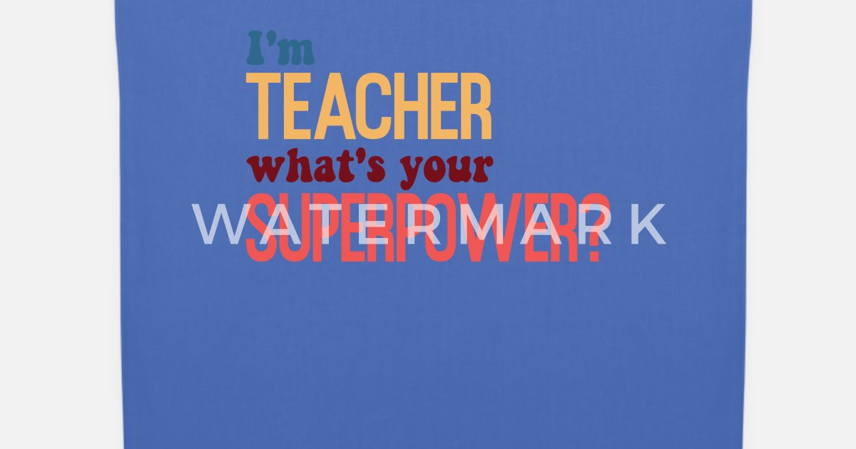 Lehrer Mit Superkraft Lustige Spruche Stoffbeutel Spreadshirt