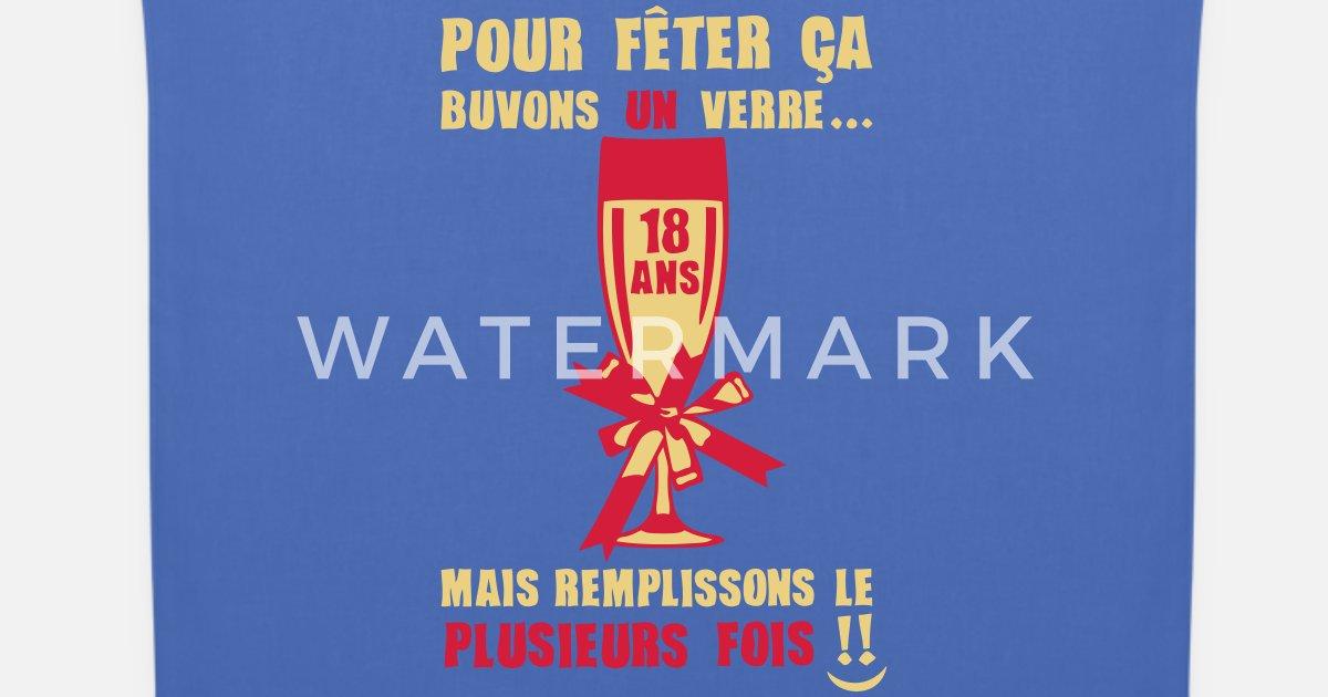 Verjaardag 18 Jarige.18 Jarige Fluit Champagne Glas Verjaardag Stoffentas Spreadshirt