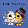 Katzen Just Married - Stoffbeutel