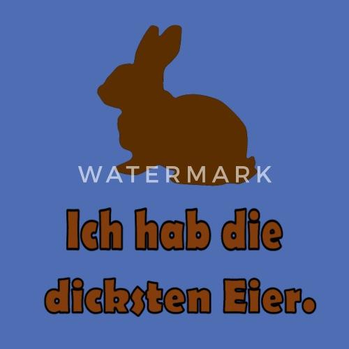 Osterhase Dicke Eier Stoffbeutel Spreadshirt